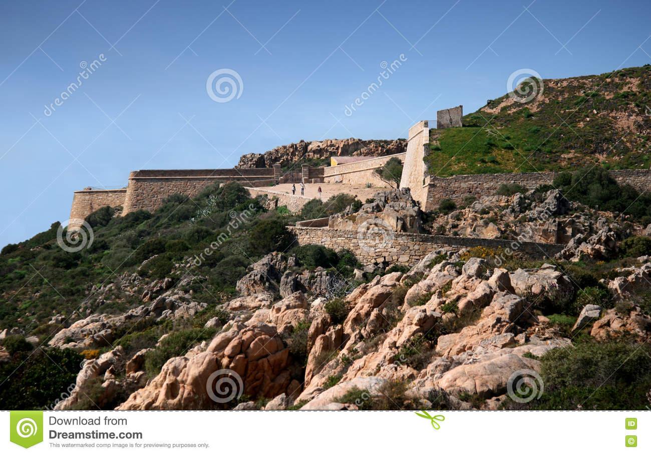 Arbutigi Fort. Caprera (La Maddalena Archipelago.