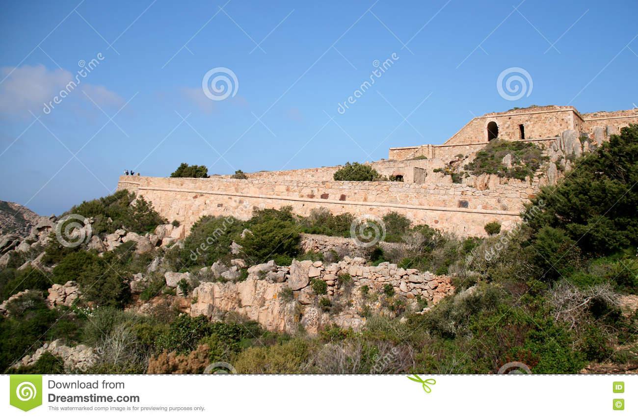 Poggio Rasu Fort. Caprera Island (La Maddalena Archipelago.