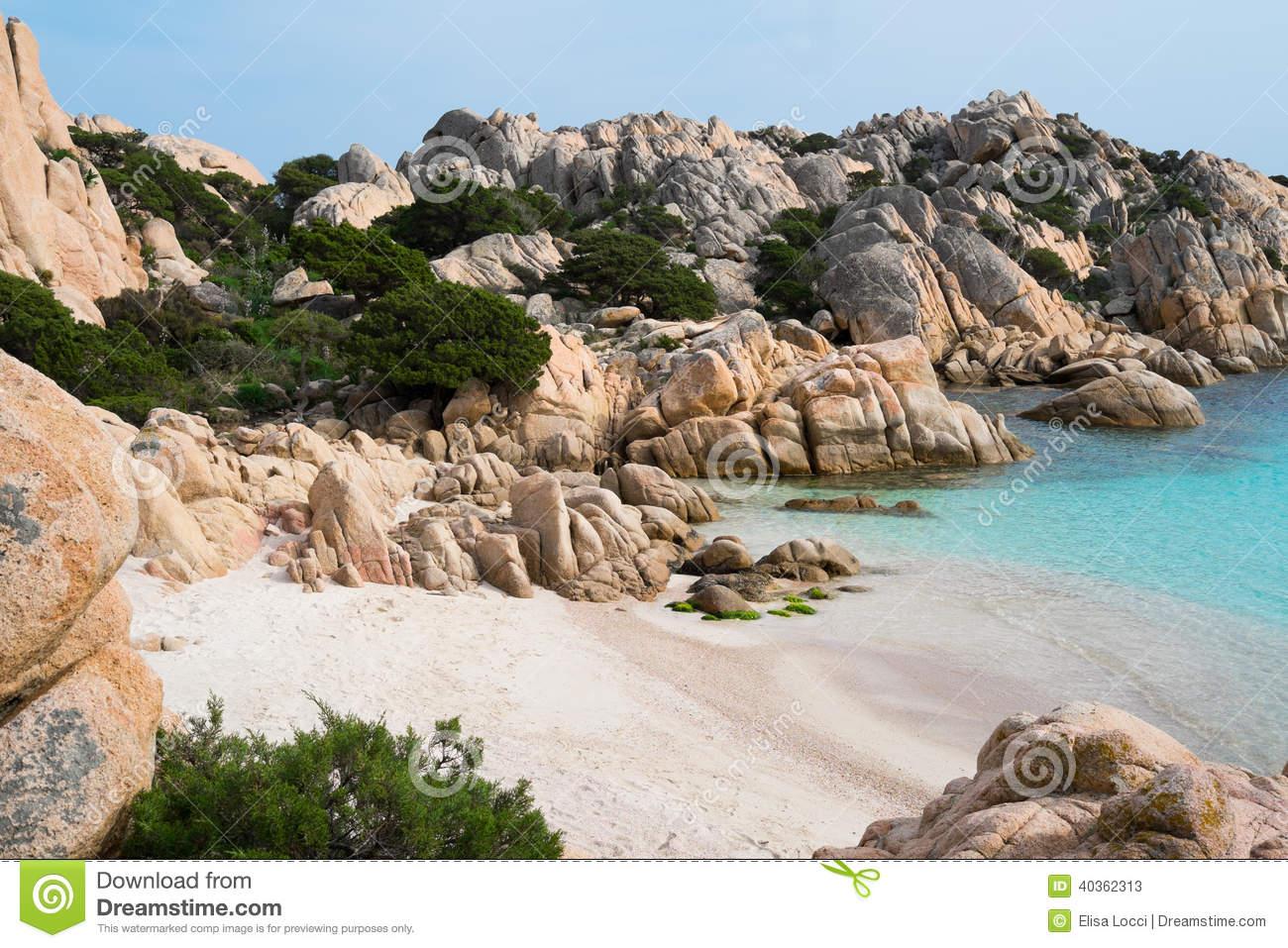 Caprera Island, Sardinia, Italy Stock Photo.