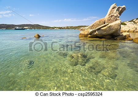 Stock Photo of Blue sea in Sardinia.