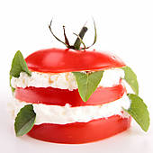 Stock Images of fresh salad caprese k9973766.