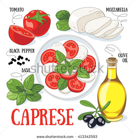 Caprese Salad Stock Vectors, Images & Vector Art.