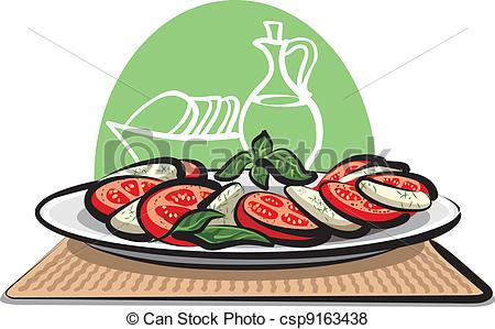 Caprese salad Illustrations and Clipart. 35 Caprese salad royalty.