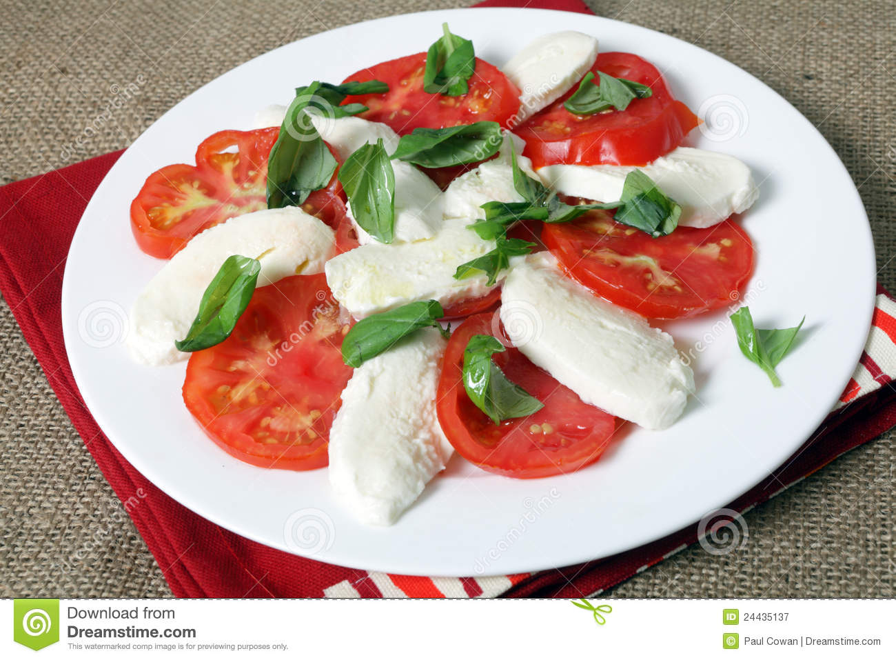 Caprese Salad Royalty Free Stock Photography.