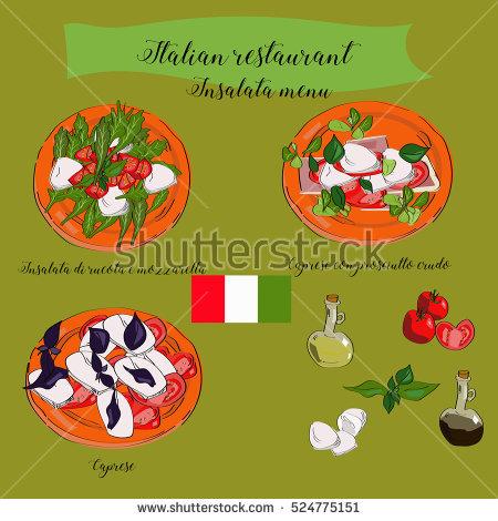 Caprese Salad Stock Vectors, Images & Vector Art.