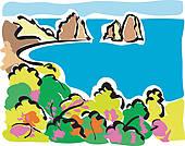 Capri Clip Art.