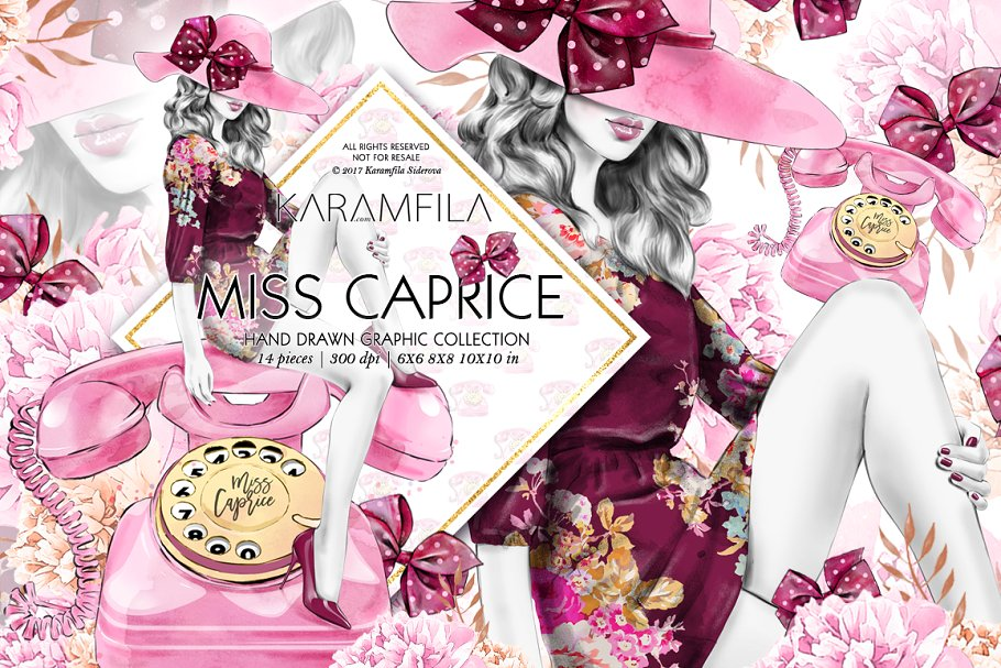 Miss Caprice Clipart ~ Illustrations ~ Creative Market.