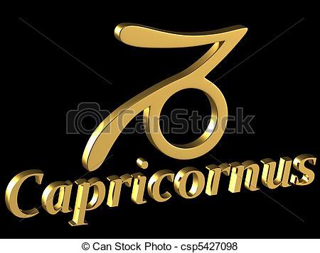 Stock Illustration of Sign Capricornus.