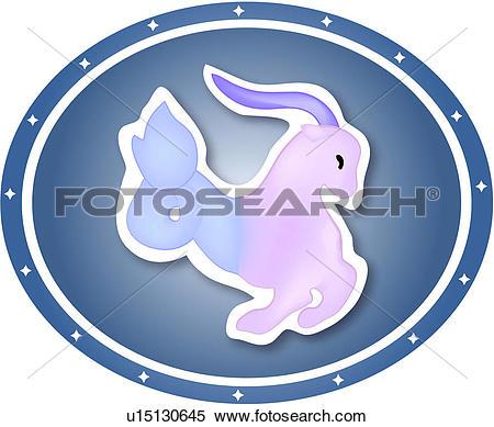 Clipart of asterism, Capricornus, goat, animal, character, star.