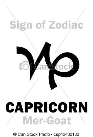 Vectors of Astrology: Sign of Zodiac CAPRICORNUS (The Mer.