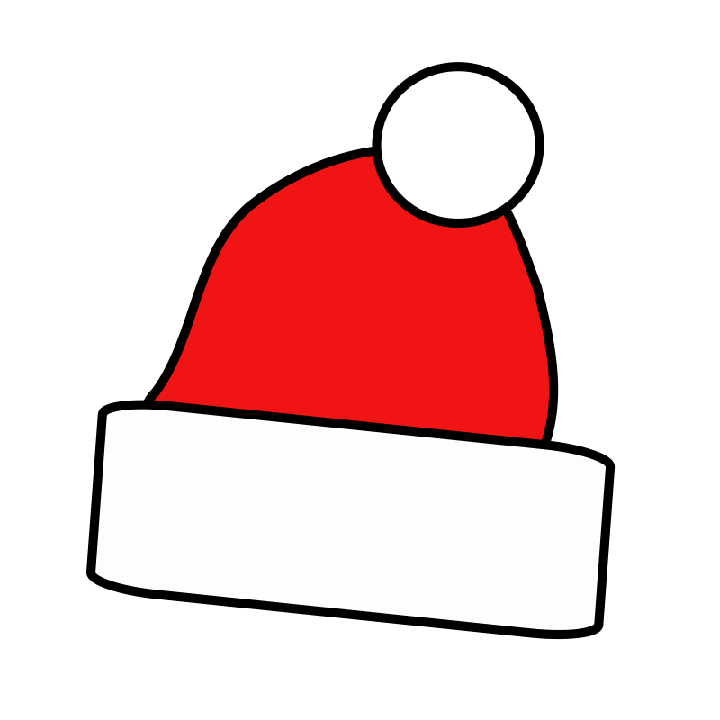 Free to Use & Public Domain Santa Hat Clip Art.