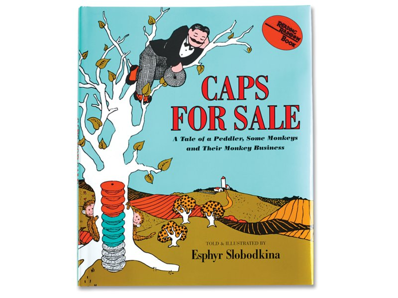 Caps for Sale Hardcover Book.
