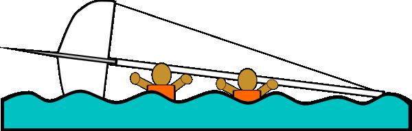 Sailing Capsized Rescue Illustrations clip art Free Vector / 4Vector.