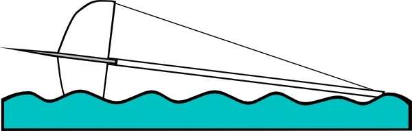 Capsized Sailing Illustration 1 clip art Free vector in Open.