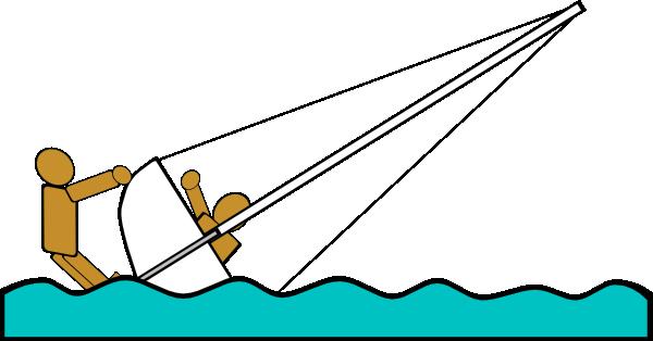 Capsized Sailing Illustration 5 Clip Art at Clker.com.