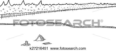 Clipart of Capsized Boat and Man in Water k27216451.