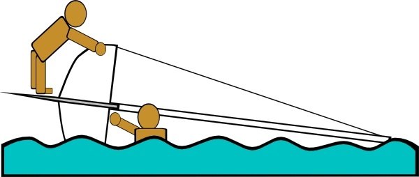Capsized Sailing Illustration 4 clip art Free vector in Open.