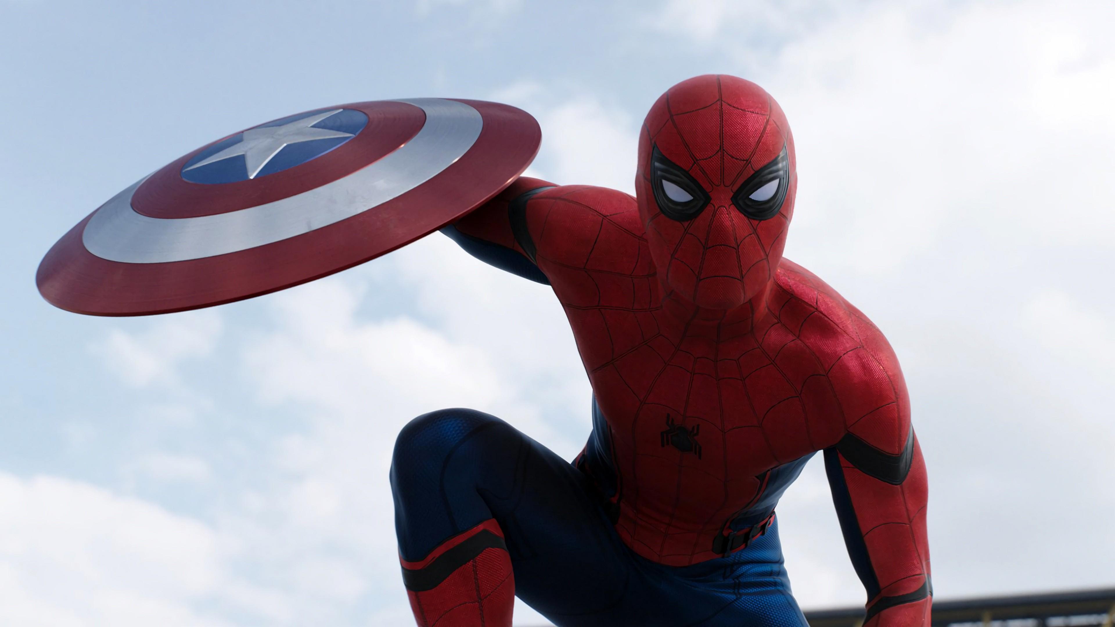 Captain America Civil War X Spider Man Marvel Best Movies Png.