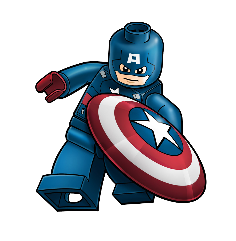 Captain America Lego Hd Clip Art Png Background.