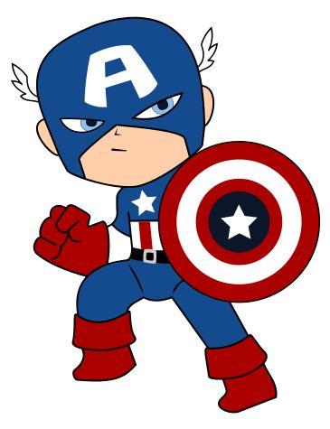 Cute captain america clipart.