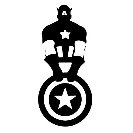 Image result for captain america clipart black and white.