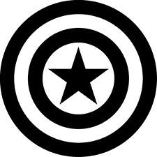 Free download Captain America Shield Black And White Clipart.