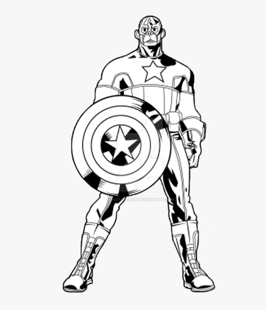 Captain America Black And White , Free Transparent Clipart.