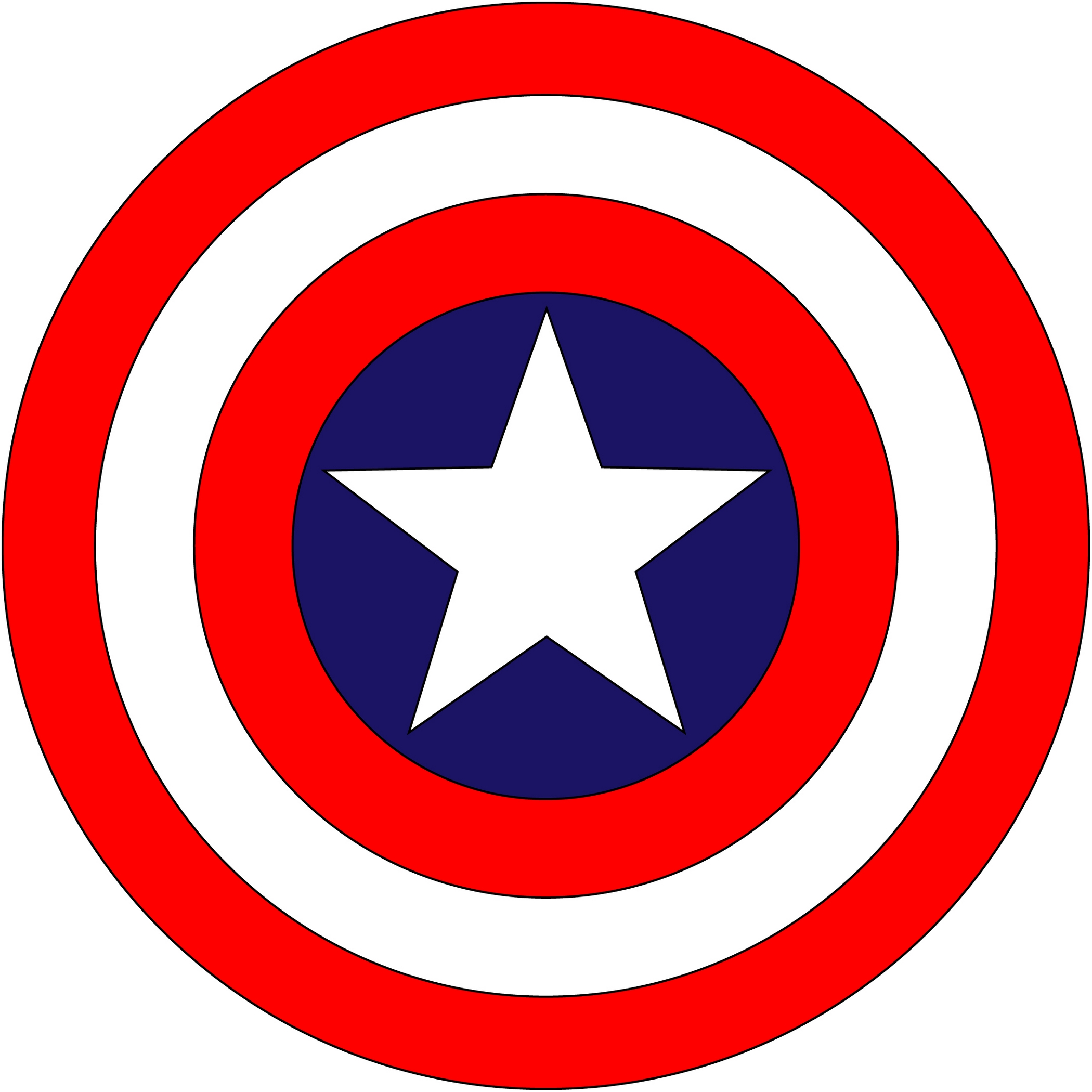 Free Captain America Clipart Black And White, Download Free.