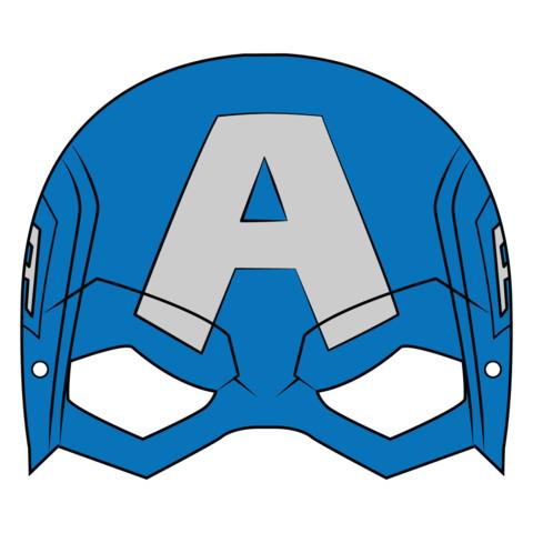 Captain America Mask Template.