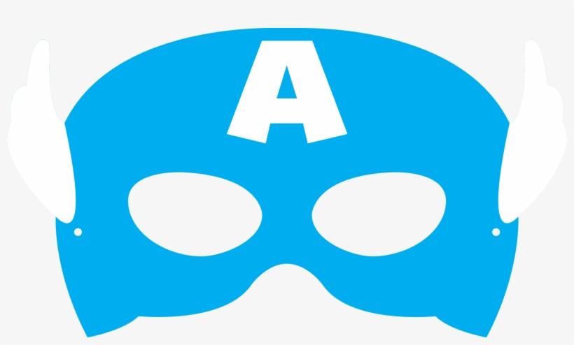 Captain America Mask Cut Out Transparent PNG.