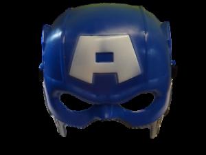 Details about Marvel Avengers Assemble, Captain America Half Face Dressing  Up Fancy Dress Mask.