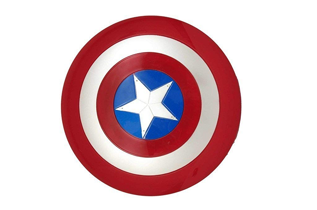 Planet of Toys 32Cm Captain America Shield Light and Sound for Kids,  Children.