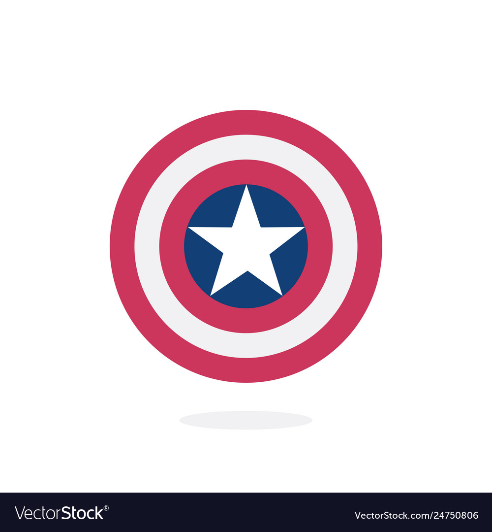 Shield with a star superhero shield vector image.