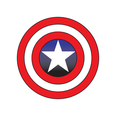 Captain America logo vector in (.EPS, .AI, .CDR) free download.