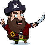 Pirate captain clipart.