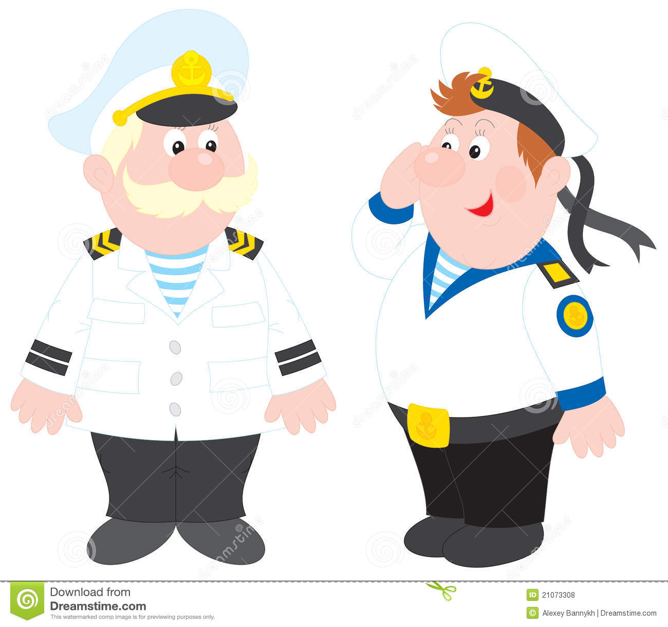 Sea captain clipart.