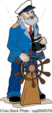 Vector Clipart of Ship's captain.