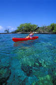 Picture of Woman kayaking on Kealakekua Bay near the Captain Cook.