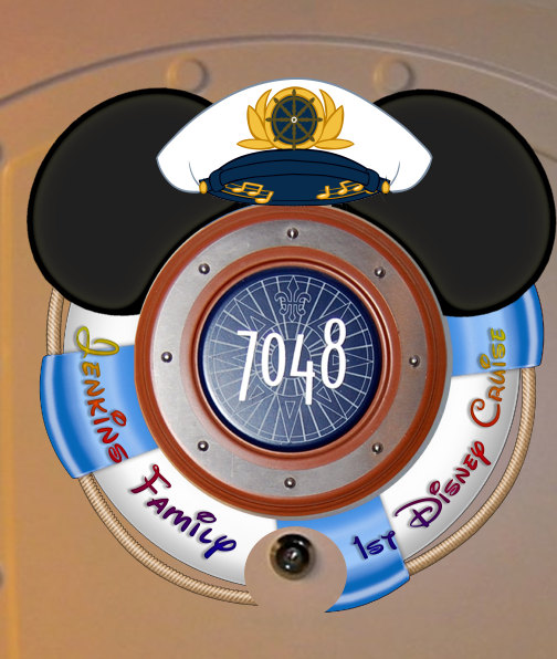 Captain LIfesaver Personalized Disney Cruise Door Magnet by Alluna.