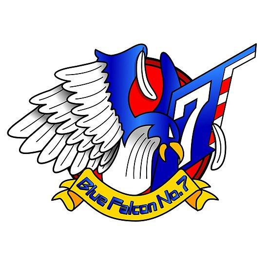 \'Captain Falcon Modern Logo Shirt\' Poster by KveldStrom.