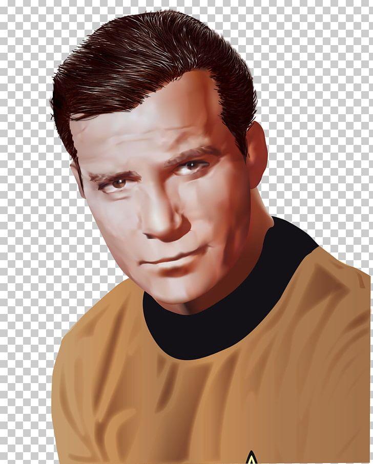 William Shatner James T. Kirk Star Trek Redshirt Chin PNG.