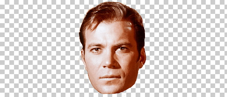 Captain Kirk Close Up, man face illustration PNG clipart.