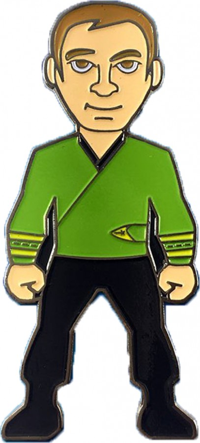 Captain Kirk green Wrap Uniform Collectors Pin Star Trek.