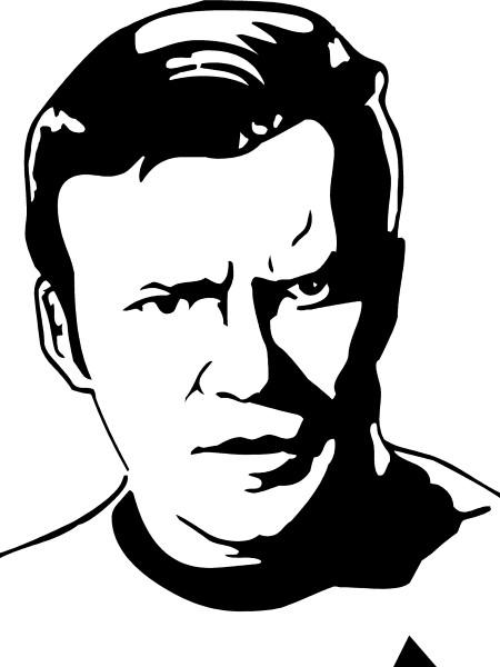 Captain Kirk Decal / Sticker 01.
