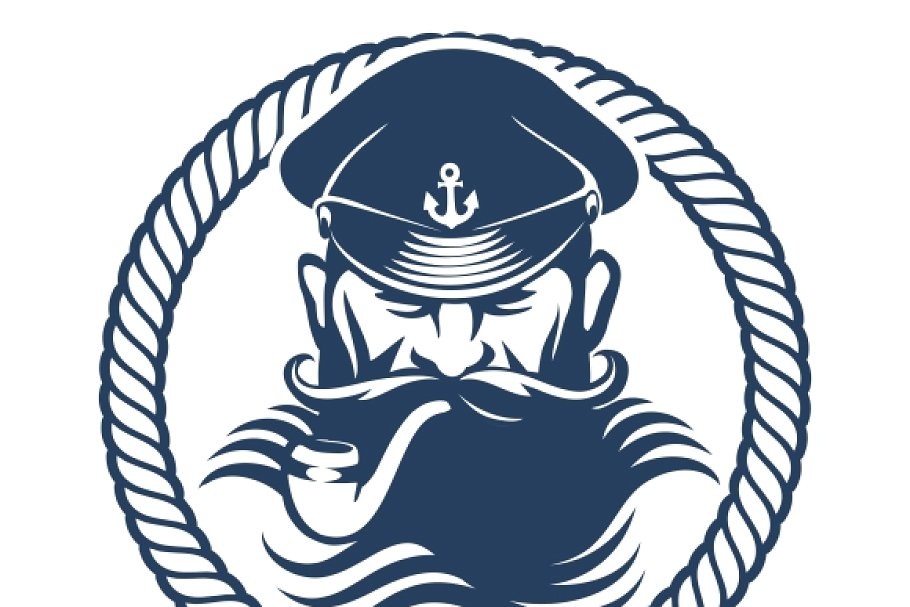 Captain logo vector element.