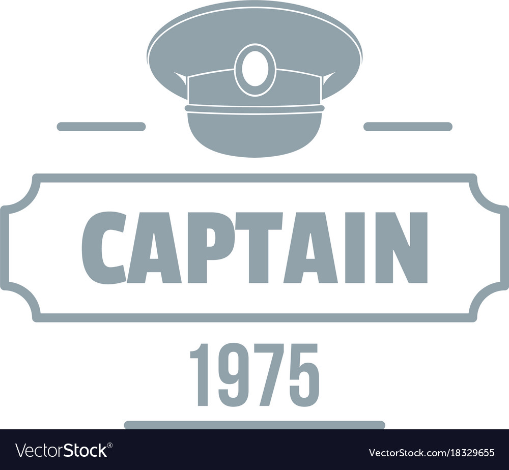 Captain logo simple gray style.