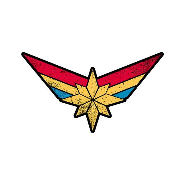 Captain Marvel Logo Sticker.