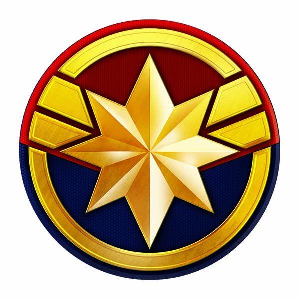 Avengers Captain Marvel Symbol Temporary Tattoo.