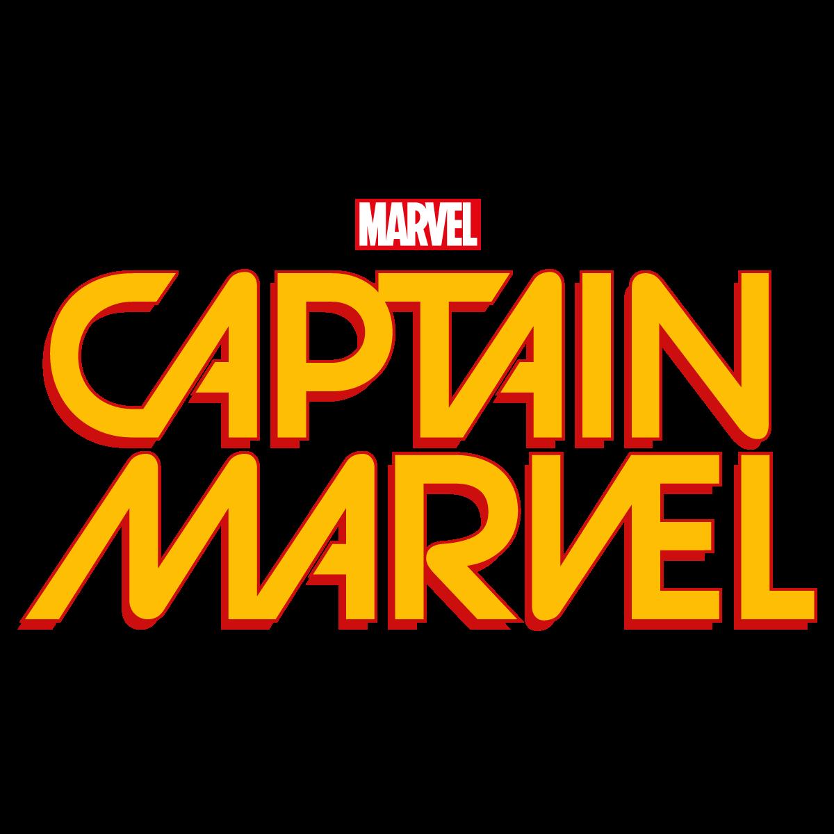 Captain Marvel Comic Book Logo Vector Transparent.