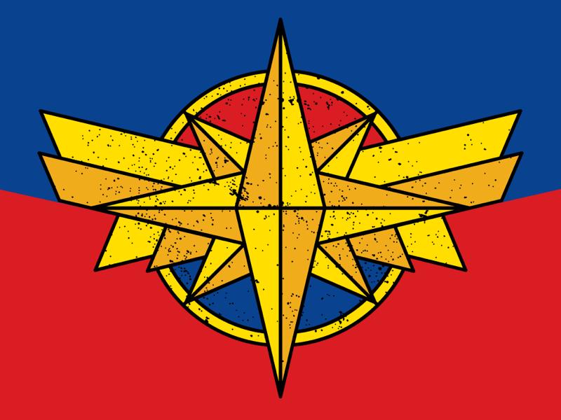 Captain Marvel: Emblem by Dani Ward on Dribbble.